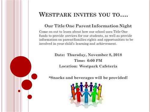 Title One Parent Night