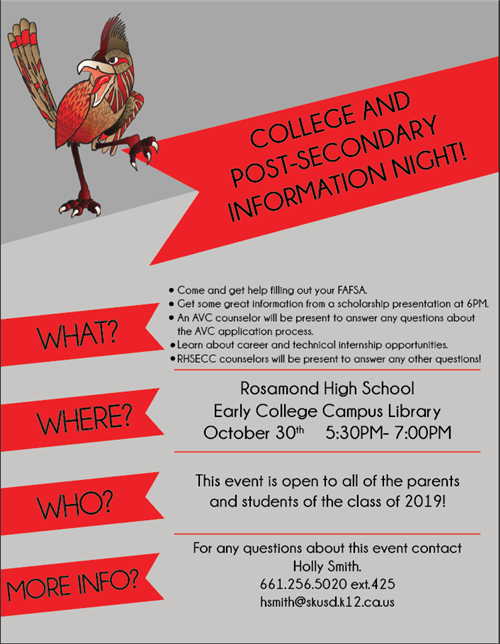 Flyer for info night